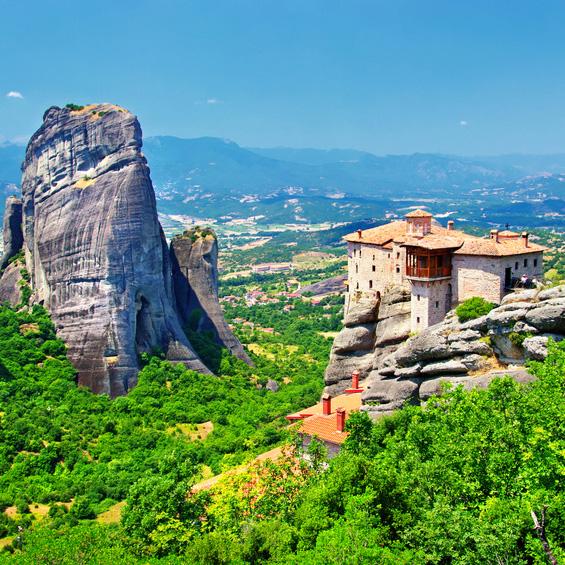Monasterios de Meteora (desde Volos)