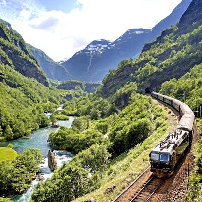 FLÅMSBANA: Tren de Flam