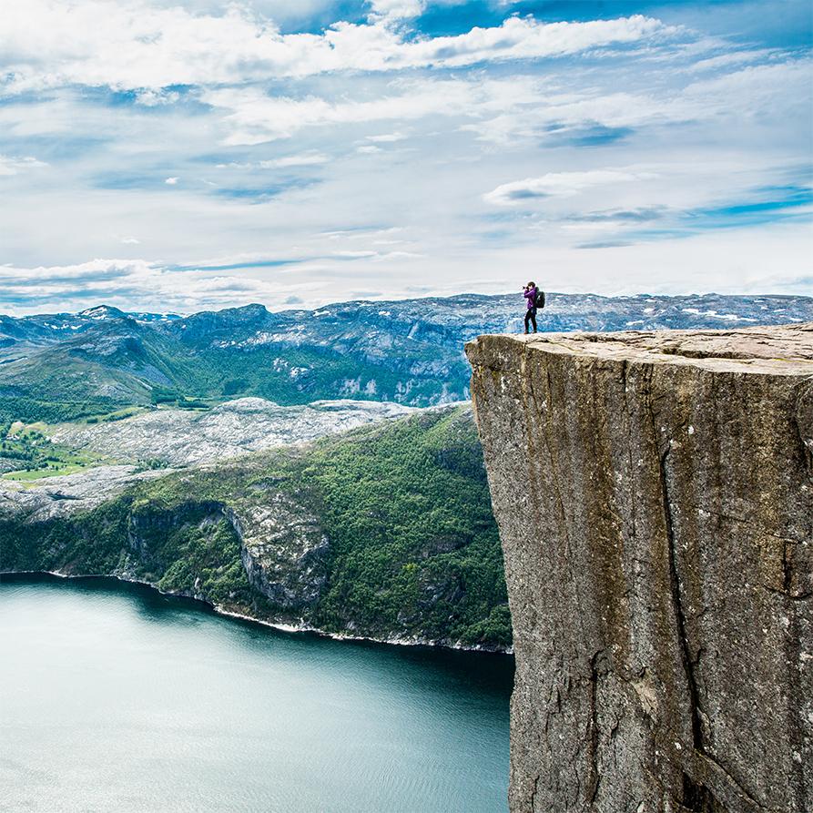 Stavanger: El Púlpito, subida a pie